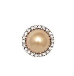 Champagne Pearl Round Silver