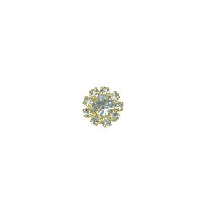 Crystal Round Stud Gold