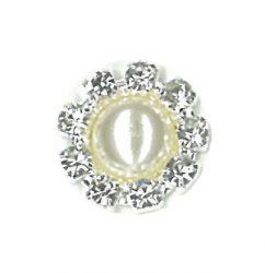 Pearl Crystal Stud