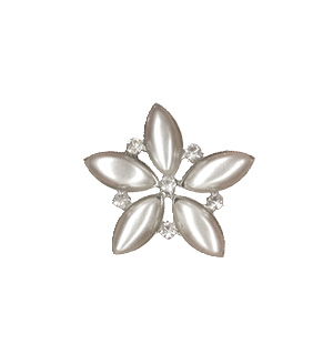 Pearl Star Bling Large Silver