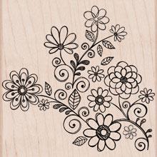 Flowers and Swirls S5488
