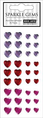 Hearts Sparkle Gems CH142