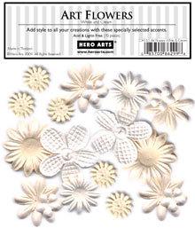 White & Cream Art Flowers CH165