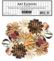 Vintage Collage Art Flowers CH167