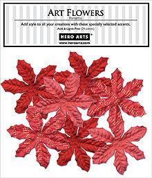 Poinsettia Art Flowers CH197