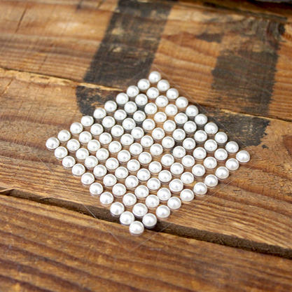 6mm Self Adhesive White Pearls