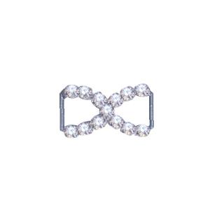 Crystal Bow Buckle Silver