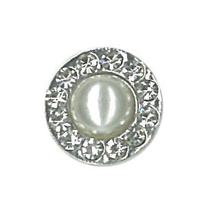 Crystal Pearl Round Stud