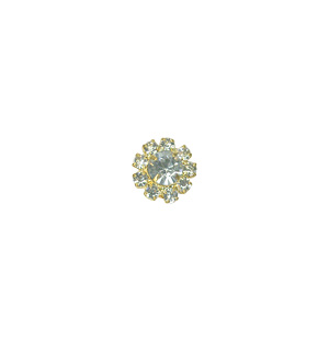 Crystal Round Stud Gold