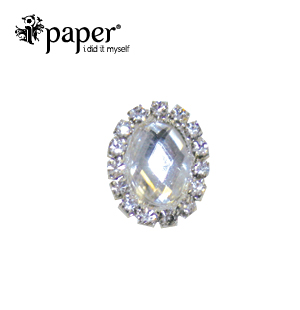 Crystal Small Oval Bling