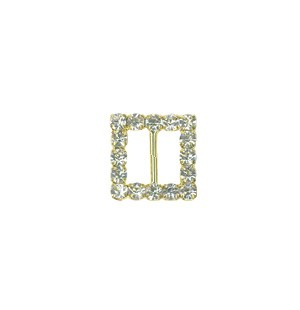 Crystal Small Square Buckle Gold