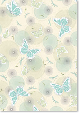 Designer Metallic A4 Paper 120gsm Butterfly Aqua Pack
