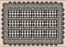 Rectangle Doily K5333