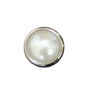 Pearl White Round Silver