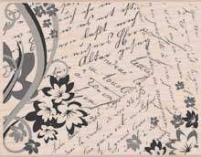 Old Writing Flower Collage S5105