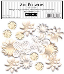 White & Cream Art Flowers CH165