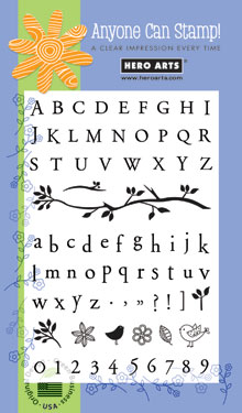 Bird Branch Alphabet CL138
