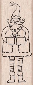 Santa with Gift H5267