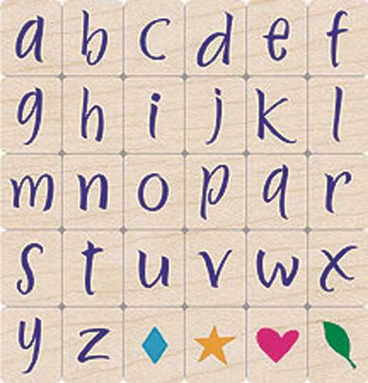 Brushstrokes Lowercase Letters LL002